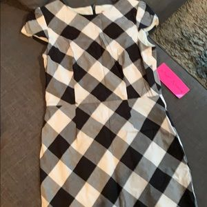 Black and white checked dress Betsey Johnson 10